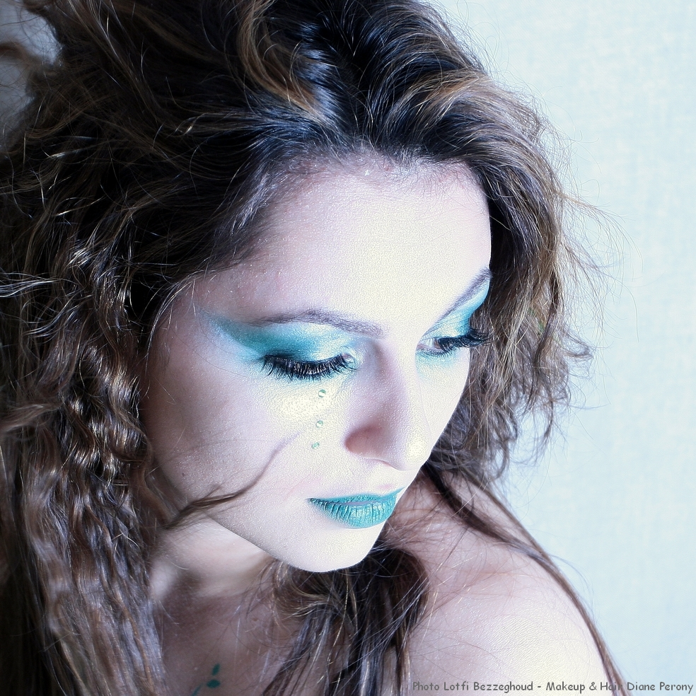 Shooting 'Mojito Girl' Photographe Lotfi Bezzeghoud - Maquillage coiffure bodypainting Diane Perony